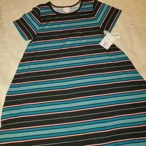 NWT MEDIUM LULAROE CARLY DRESS STRIPED
